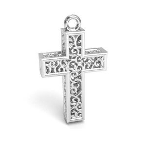 Cruce pandantiv argint 925, CON 1 E-PENDANT 657 11,8x19,8 mm