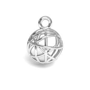 Emisfera pandantiv argint 925, CON 1 E-PENDANT 644 8,3x11,25 mm