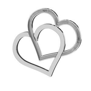 Inima pandantiv ,argint 925, LK-2190 - 05 18x21 mm