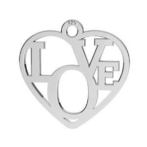Inima pandantiv ,argint 925, LK-2677 - 05 15,5x16 mm