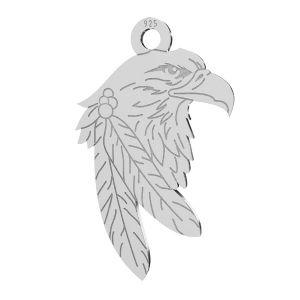 Vultur pandantiv, argint 925, LKM-2209 - 0,50 13,1x21,9 mm