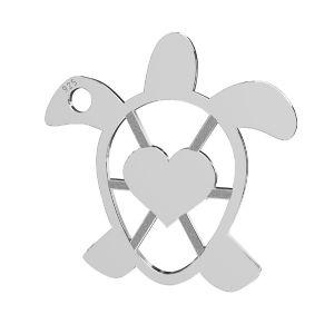 Tortoise pandantiv, argint 925, LKM-2192 - 0,50 16,3x16,3 mm