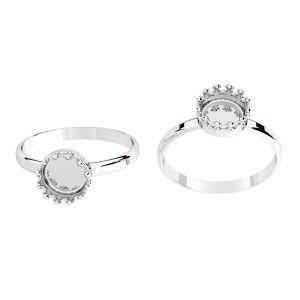 Inel rotunzi pentru răsină, argint 925, ODL-00681 RING (R-11)