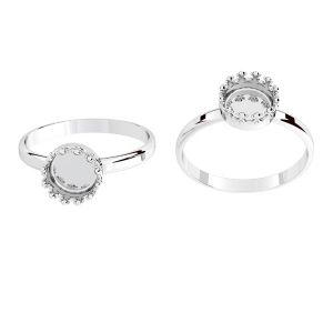 Inel rotunzi pentru răsină, argint 925, ODL-00681 RING (R-15)