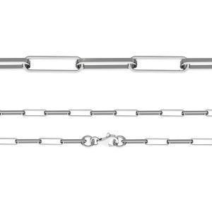 Lantisor anchor, taiat diamant*argint 925*FIO 100 40 cm
