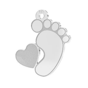 Picioare pentru copii pandantiv*sterling argint 925*LKM-2644 - 0,50 13x14,7 mm (2808 mm 6)