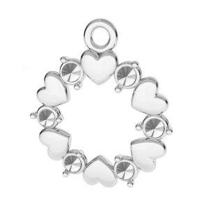 Inimă pandantiv argint, ODL-00812 13,5x15,5 mm