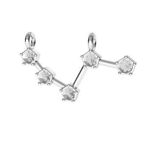 Berbec pandantiv zodiac*argint 925*ODL-00636 10x25 mm