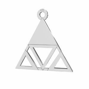Triunghi pandantiv sterling argint, LKM-2222 - 0,50 18,6x18,7 mm