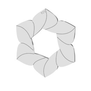Floare pandantiv, LKM-2788 - 0,50 14,7x17 mm