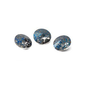 Rundă cristal 8mm, RIVOLI 8 MM GAVBARI METALIC BLUE PATINA