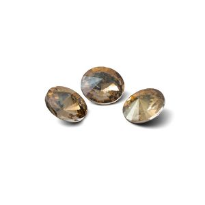 Rundă cristal 8mm, RIVOLI 8 MM GAVBARI IRIDESCENT GOLD