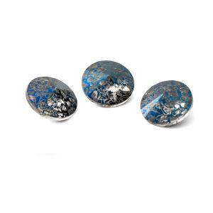 Rundă cristal 10mm, RIVOLI 10 MM GAVBARI METALIC BLUE PATINA