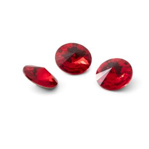 Rundă cristal 10mm, RIVOLI 10 MM GAVBARI LIGHT RED