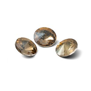 Rundă cristal 10mm, RIVOLI 10 MM GAVBARI IRIDESCENT GOLD