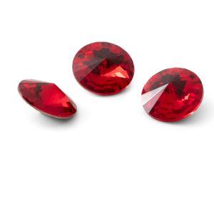 Rundă cristal 12mm, RIVOLI 12 MM GAVBARI LIGHT RED