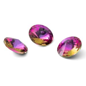 Rundă cristal 12mm, RIVOLI 12 MM GAVBARI PURPLE ROSE