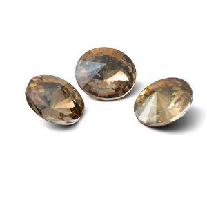 Rundă cristal 12mm, RIVOLI 12 MM GAVBARI IRIDESCENT GOLD