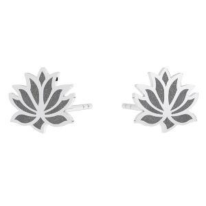 Floare de lotus cercei KLS LKM-3002 - 0,50 9x9 mm