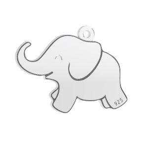 Elefant pandantiv, argint 925, LKM-3006 - 05 14,5x20 mm