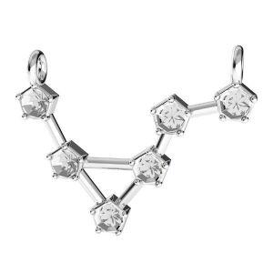 Vărsător pandantiv zodiac*argint 925*ODL-00637 15x19,5 mm