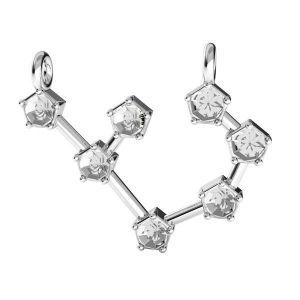 Săgetător pandantiv zodiac*argint 925*ODL-00657 17,5x19 mm
