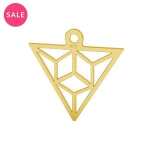Origami triunghi pandantiv argint, LK-1508 - 0,50