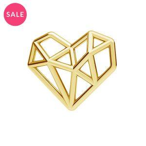 Origami inimă pandantiv argint, ODL-00299