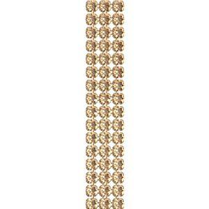 40001/003 012 001GSHA, Crystal Mesh Standard 3 rows, Golden Shadow